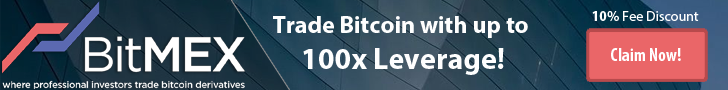 BitMEX - Receive a 10% fee discount for 6 months.
